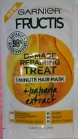 Garner fructose damage repairing treat 1 min hair mask + papaya extract