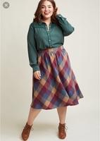 Modcloth Wool Plaid Skirt