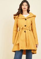 Once Upon a Thyme Coat in Mustard By Steve Madden