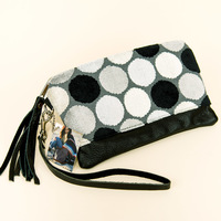The Lulu clutch from MidiQueen Handbags (colors and prints will vary)
