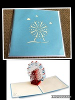 Ferris Wheel Pop Up Greeting Card by Forever Poppin