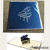 Piano Pop Up Card by Forever Poppin