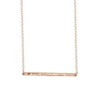 Jesse and Co. hammered bar gold necklace