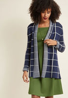 Simply Snuggly Checked Cardigan