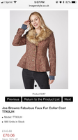 Joe Browns fabulously fur collar jacket