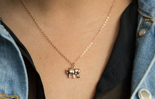 Melinda Maria Lucky Elephant Necklace