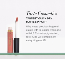 Tarteist quick dry matte lip paint in rose
