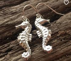 Seahorse Earrings by EJM Designs