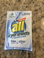 All dryer sheets, 5 pack