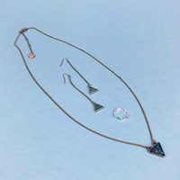 Mint Mongoose July 18 set Necklace, Earrings, Ring