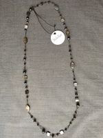 Starfish Project Black Mother of Pearl Necklace Tanya 19''