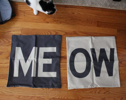 Meow Throw Pillow Covers