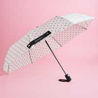 Catherine Malandrino Umbrella - Black/White Floral