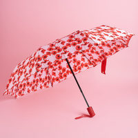 Catherine Malandrino Umbrella - Red Floral