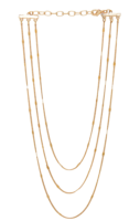 Frasier Sterling Monaco Prelayer Gold Tone Necklace