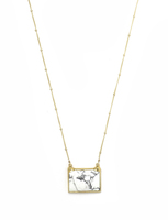 Robyn Rhodes Quentin Necklace - Gold / Howlite