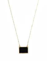 Robyn Rhodes Quentin Necklace - Gold / Onyx