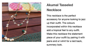 Akumal Tasseled Necklace