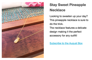 Stay Sweet Pineapple Necklace