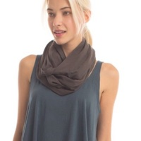 Synergy Organic Cotton Infinity Scarf Graphite