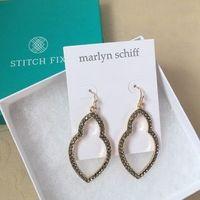 Marlyn Schiff Theresa Pave Open Shape Drop Earrings