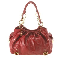 Fiore Red Leather Satchel