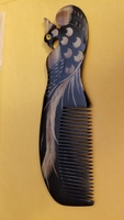 Hand Carved Phoenix Comb
