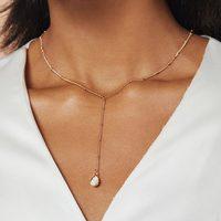 Frasier Sterling Crystal Drop Necklace