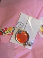 Stained Glass Peach Sun Catcher