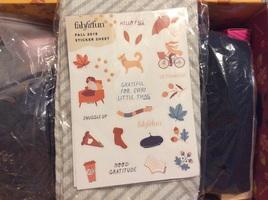 Sticker sheet Fabfitfun Fall 2018