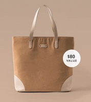 October Jaipur Everyday Tote in Almond