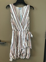 She and Sky faux wrap striped dress