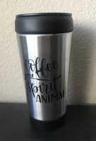 Coffee Is My Spirit Animal Travel Cup