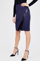 Noir Asymmetrical PU Skirt