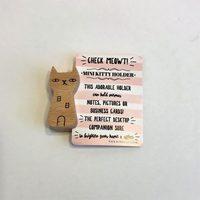 The Happy Shoppe Wood Cat Photo Holder