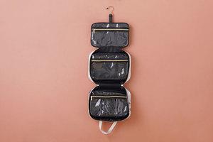 Aimee Kestenberg Hanging Makeup Bag in Quilted Black