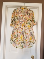 Back Road Ramble Tunic in Rose Garden - Large