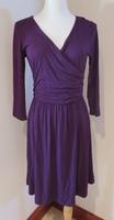 Gilli Faux Wrap Dress in Plum