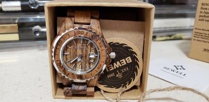Bewell Wooden Watch Analog Quartz Light Weight Vintage Wrist Watch