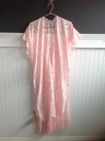 Charolette Pink Lace Fringed Kimono