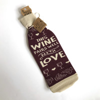 Wine bottle sock cover