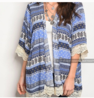 Front Of Closet Cardigan With Lace