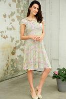 Modcloth Fever Frances Cutout Floral Flare Dress Sz 8