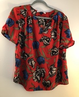 Collective Concepts Poppy Print Top
