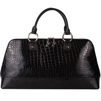 Berry Lovely Large Top Handle Black Croco