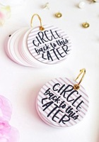 'Circle Back to the Later' Keychain Notepad