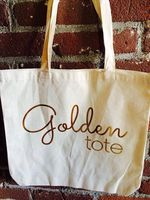 golden tote bag canvas ( bag only) MAY month