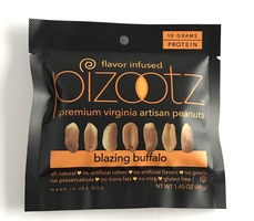 Pizootz Premium Virginia Artisan Peanuts in Blazing Buffalo