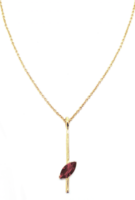 Red Pear Marquis Necklace