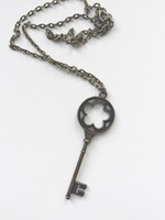 Crystal Compass Designs Skeleton Key Pendant Necklace